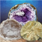 Science Kit - Break open 2 Real Geodes
