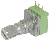 10k Ohm Logarithmic (A) Single Gang 9mm Potentiometer