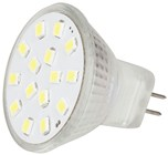 MR11 LED Replacement Light 15x2835 LEDs 120º, 12VAC/DC, Cool White