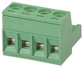 4 Pole PC Mount Pluggable Terminal Block Socket - 5.08mm
