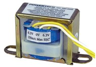 12.6V CT, 150mA, 1.9VA Centre Tapped Transformer Type 2851