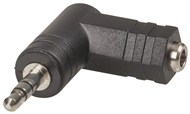 Adaptor 3.5mm Stereo Socket - 3.5mm Stereo Plug Right Angle