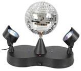 Rotating Disco Ball with LED Spotlights