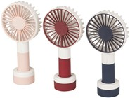 Portable Personal Rechargable Fan with 3 Speeds and LED Light