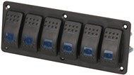 6 Way Illuminated Blue Rocker Switch Panel