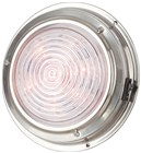 140mm Cool White and Red LED Stainless Steel Dome Light