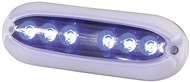 6X2W Blue Surface Mount Underwater LED Light 1000 Lumens