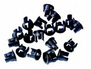 5mm LED Clips Black - Pack of 100