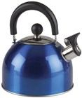 Blue Stainless Steel Whistling Kettle 2L