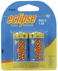 C size Alkaline Batteries Eclipse - Pk. 2