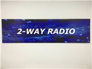 Resellers category sign blue 2-WAY RADIO