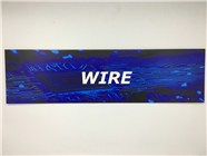 Resellers category sign blue WIRE