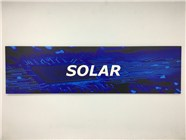 Resellers category sign blue SOLAR