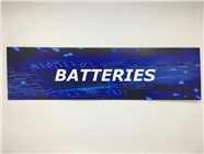 Resellers category sign blue BATTERIES