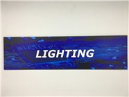 Resellers category sign blue LIGHTING