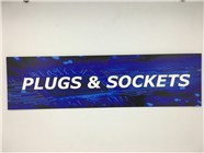 Resellers category sign blue PLUGS+SOCKETS