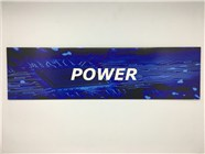 Resellers category sign blue POWER