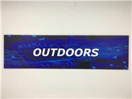 Resellers category sign blue OUTDOORS