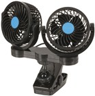 Dual 100mm 12V Fans with Clamp Mount