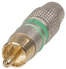 Quality Gold RCA Plugs - Green