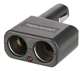 Cigarette Lighter Adaptor with Twin Socket