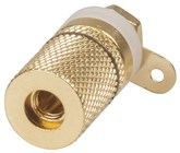 Gold Banana Socket Binding Post - Black