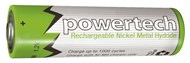 1.2V AA 2500mAh Rechargeable Ni-MH Powertech Battery - Nipple