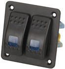 2 Way Illuminated Blue Rocker Switch Panel