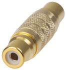 Gold RCA Socket to RCA Socket Adaptor Pack of 2