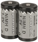 9,000mA Ni-MH D Batteries - Pack of 2