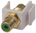 RCA Green Keystone Insert Gold Plated