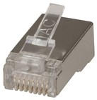 8P/8C Screened RJ45 Plug to Suit Stranded cable - 10Pk