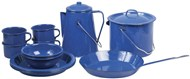 15 Piece Steel Enamelware Set