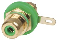 Gold RCA Socket - Green