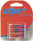 Four Pack 1.5V Eclipse+ AAA Lithium Batteries