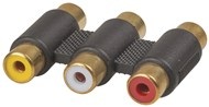 Gold 3 X RCA Socket to 3 X RCA Socket