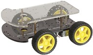 4 Wheel Drive Motor Chassis Robotics Kit