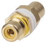 RCA Adaptors - Panel Mount - Yellow