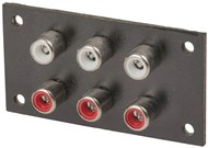 6 WAY PHENOLIC RCA Socket