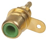 RCA CHASSIS SOCKET GREEN