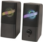 2CH Powered PC Stereo Speakers with RGB Lights