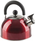 Red Stainless Steel Whistling Kettle 2L