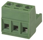 3 Pole PC Mount Pluggable Terminal Block Socket - 5.08mm