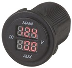 Dual Battery LED Voltmeter