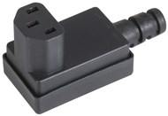 Right Angled IEC320 C13 Line Socket