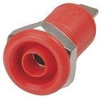4mm Panel Mount Banana Socket - Red
