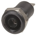 4mm Panel Mount Banana Socket - Black