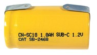 1.8Ah Sub C Rechargeable Ni-CD Battery - Solder
