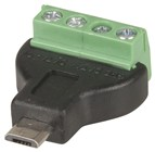 USB 2.0 Micro B Plug to 4-Way Screw Terminal Header Adaptor
