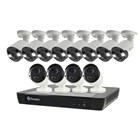 Swann 16CH 4K NVR Kit with 8 x 4K PIR Spot Light Bullet + 4 x 4K PIR Cameras
